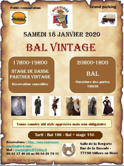 Flyer bal vintage 2